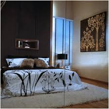 Modern Bedroom Decoration In Brown And Cream Colors Decorating Ideas