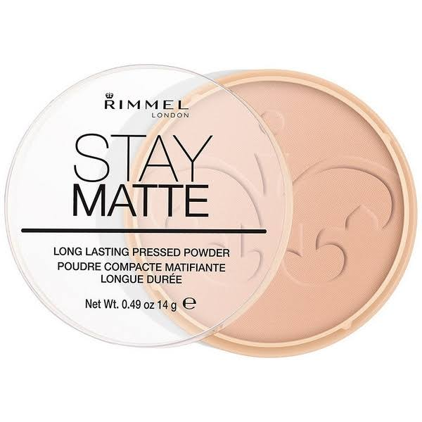 Rimmel London Stay Matte Pressed Powder - 005 Silky Beige, 14g