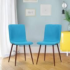 homcom 2er set esszimmerstuhl polsterstuhl leinenbezug 43 x 56 5 x 85 cm blau