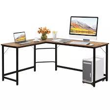 l geformten schreibtisch ecke computer schreibtisch pc gaming tisch workstation mit cpu stehen