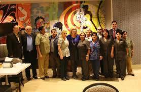 Kim Cimini center Senior V MGM Resorts International