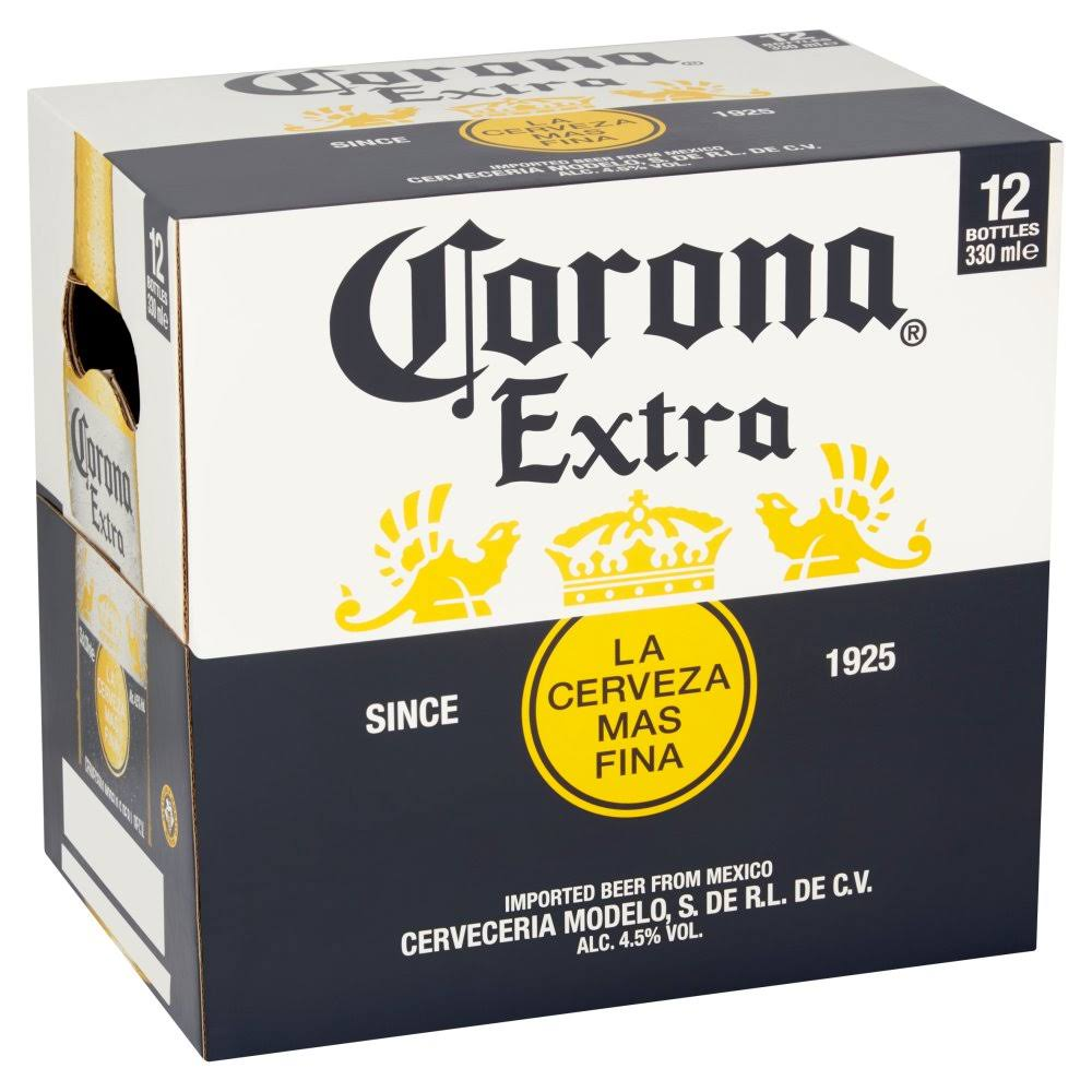 Corona Lager Beer - 330ml, 12pcs