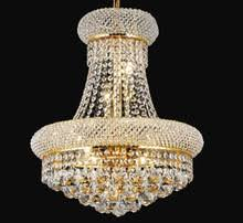 Phube Lighting French Empire Gold Crystal Chandelier Chrome Chandeliers Modern Light Free Shipping