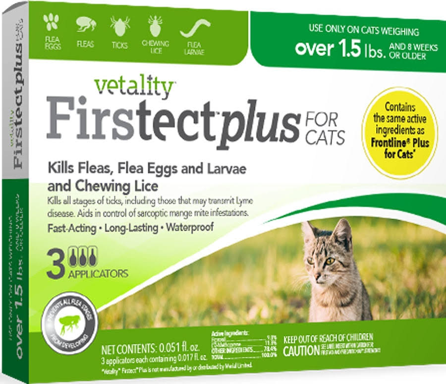 Vetality Firstect Plus For Cats - 3 Applicators