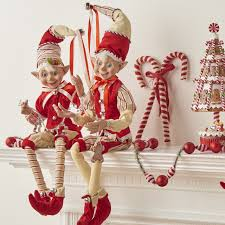 Raz Christmas Trees by Raz Christmas Elves From The Peppermint Kitchen Collection