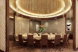 Hotel Chinese Restaurant VIP Room 3D Rendering