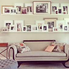 Wedding Photo Walls Ideas On On White Living Room With Photo Display
