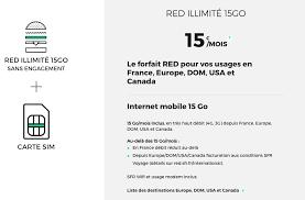 forfait mobile 15 mois 15 go appels illimités depuis canada