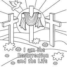 Easter Religious Coloring Page