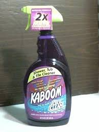 kaboom shower tub tile cleaner nohardscrubbing oxi clean stain