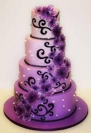 "Purple and Black Wedding Cake = SOURCE Iris White Hamilton ""Shock and"
