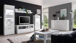 wohnwand 11 bianco anbauwand wohnzimmer set wohnkombi weiß