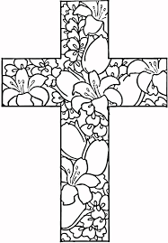 Cross Coloring Pages With Flowers For Adults ColoringStar