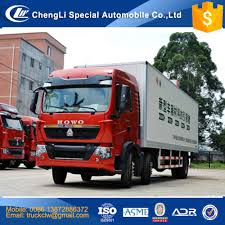 Good Performance Howo 20ft Container Truck 6x2 Cargo Van ...