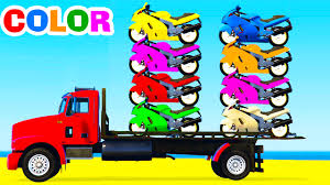 Kids Color Videos With Spider Man And Trucks - Ebcs #8026e42d70e3