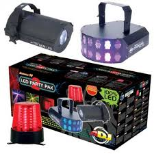 LED PARTY PAK 2 100% LED instant light show package All in one
