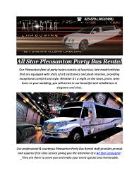 All Star Pleasanton Party Bus Rental By All Star Limousine Rentals ...