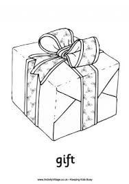 Christmas Gift Colouring Page