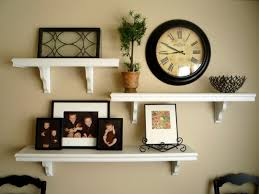 Picture And Shelves On Wall Together
