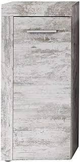 trendteam smart living badezimmer schrank kommode cancun boom 36 x 79 x 23 cm in pine weiß chabby chic retro nb mit viel stauraum