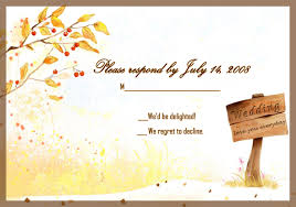 Free Country Style Gold Rustic Fall Response Card EWI045