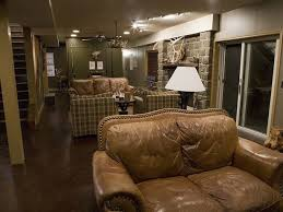 Comfy Chairs And Couches Great Color Scheme Really Works For This Outdoorsman Man Cave