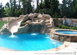 Swimming Pool With Slide Simple Home Pools Slides On Gorgeous