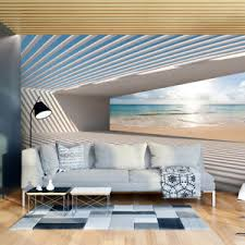 details zu vlies fototapete strand meer 3d effekt tunnel tapete wandbilder wohnzimmer