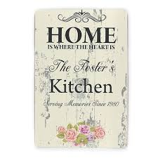 Home Is Where The Heart Personalised Plaque