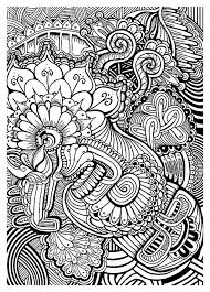 Abstract Floral Intricate Coloring Pages For Grown Ups