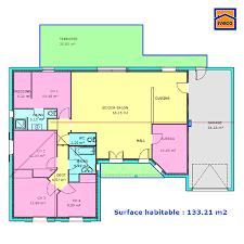 plan maison plain pied gratuit 3 chambres plan de maison individuelle plain pied