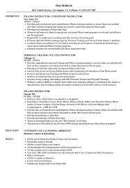 Download Pilates Instructor Resume Sample As Image File