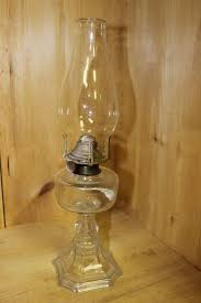 vintage fancy oil lamp with burner and chimney bolton pattern