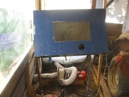 Diy Sandblast Cabinet Vacuum by Home Made Blasting Cabinet For Cheap Who U0027s Done It The H A M B