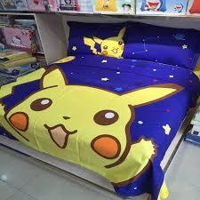 Pokemon Cartoon Bedding Set For Luxury Kids Bedroom Interior