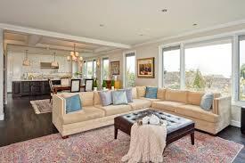 Contemporary Design Open Floor Plan Kitchen Living Room Dining Astounding