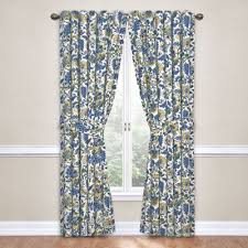 Waverly Fabric Curtain Panels by Imperial Dress Rod Pocket Curtain Panel With Tieback