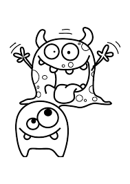 Monsters Scary Monster Coloring Page PageFull Size Image