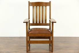 Charles Stickley Rocking Chair by Sold Sofas Benches And Chairs Harp Gallery Antiques
