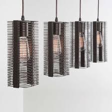 Downtown Mesh Linear Suspension Light by Hammerton Studio