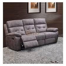 canapé tissus haut de gamme canapé 3 places relax milord tissu gris haut de gamme
