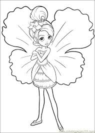 Barbie Online Coloring Pages 13 Thumbelina 021 Page