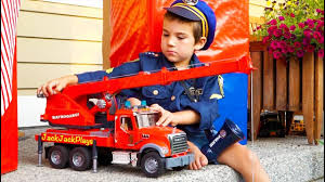 100 Big Toy Trucks Surprise Unboxing By Police Bruder Garbage