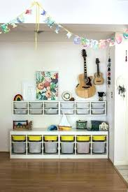 Playroom Ideas Shared Spaces A Former Dining Room Turned Storage Area Kids Bins Design Home Improvement