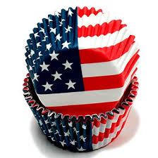 Amazon Chef Craft 50 Count Cupcake Liners American Flag Kitchen Dining
