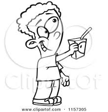 Juice clipart colouring page 10