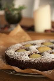 weihnachtlicher schoko birnenkuchen mit feiner lebkuchennote