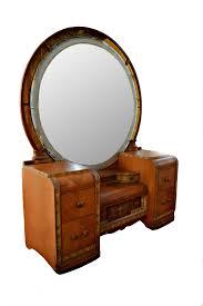 Birdseye Maple Vanity Dresser by Vintage Art Deco Waterfall Vanity Desk U0026 Mirror Vanity Desk