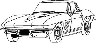 Corvette Car Coloring Pages Printable Truck Kids Stingray Page