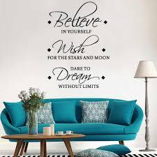 glauben wünschen traum englisch inspirierend wand aufkleber wohnzimmer schlafzimmer dekoration wandbild abnehmbare aufkleber hause tapete